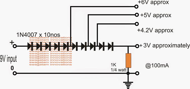 Paggawa ng 3.3V, 5V Voltage Regulator Circuit na may Diode at Transistors