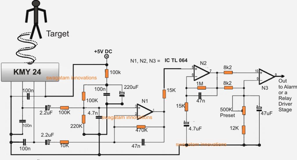 Как да направите GHz микровълнова радарна алармена верига
